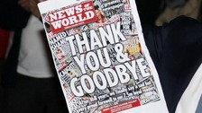 The News of the World shut down in 2011.