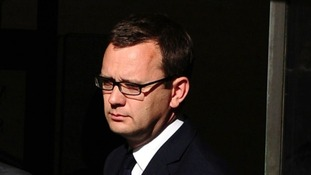 Former News of the World editor Andy Coulson pictured at the Old Bailey yesterday.