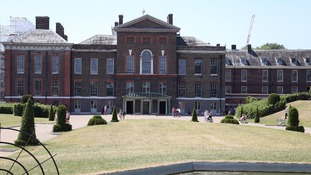 Kensington Palace shown surrounded by scaffolding last year.