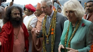Charles and Camilla during an eleven-day visit to India last year.