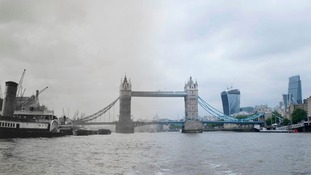Ghostly images show London's bridges through the ages