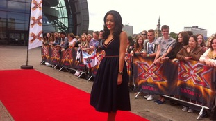 X Factor new girl Sarah-Jane joins Dermot on red carpet