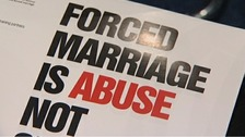 A campaigners' anti-forced marriage poster