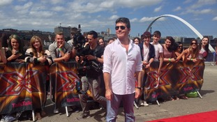 Simon, Cheryl, Mel & Louis hit red carpet in Gateshead