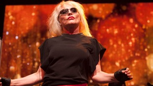 Debbie Harry's Blondie will be appearing at Worthy Farm today.
