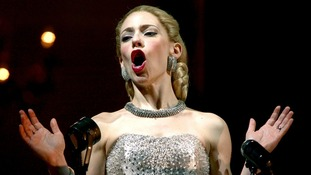 Argentinian actress Elena Roger, who plays Eva Peron, performs Don't Cry For Me Argentina at a previous performance