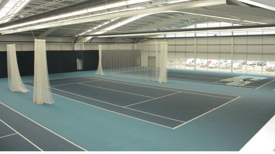 Inside the  new indoor tennis centre in Birmingham