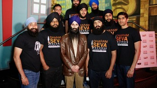Volunteers at the Leamington Spa-based charity Dharam Seva
