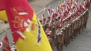 Royal Lancers get heroes welcome