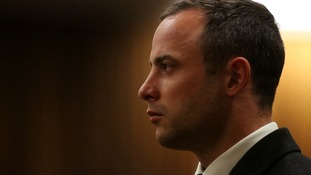 Oscar Pistorius pictured in the Pretoria court back in May.