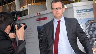 Andy Coulson outside the Old Bailey in London.