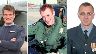 Flight Lieutenant Hywel Poole, Flt Lt Adam Sanders and Squadron Leader Samuel Bailey died in the crash.