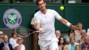 Andy Murray in action against South Africa's Kevin Anderson.