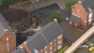 The housing estate in Newburn was wrecked by floods in September 2012.