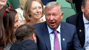 Sir Alex Ferguson was in the royal box to see Andy Murray storm into the quarter-finals.