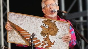 Rolf Harris performed on the Pyramid Stage at Glastonbury in 2002.