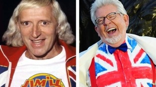Jimmy Savile and Rolf Harris.