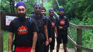 These volunteers from Handsworth in Birmingham had earlier completed the Three Peaks Challenge