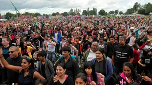 Crowds at the Sandwell Mela last year