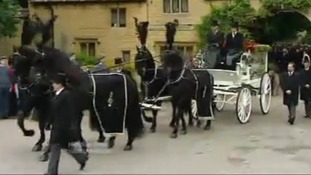 Funeral of Bee Gee Robin Gibb