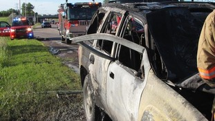 Man uses 'superhuman' strength to bend car door and save driver from fire