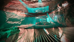 World's biggest trampoline set to open in Blaenau Ffestiniog slate caverns