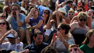 Murray fans at Wimbledon show their sheer disappointment at his loss.