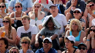 Tennis fans sheltering form the sun appeared sad at Murray's shock exit.