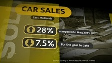 Increase in car sales in the Midlands have risen by 28% compared to May 2011