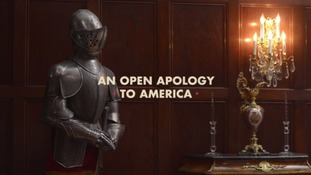 "The YouTube video begins with the message, ""An open apology to America""."