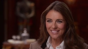 Elizabeth Hurley in the Newcastle Brown Ale advert.