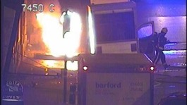 Exploding pavement triggers fire in Piccadilly