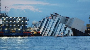 The Costa Concordia sank after hitting rocks off the coast of Italy in 2012.