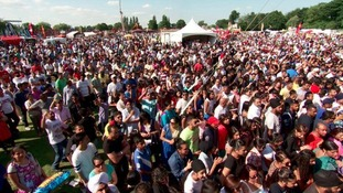 The crowds gather at last year's mela at Victoria Park