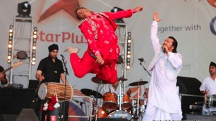 Performers on stage at last year's mela at Victoria Park