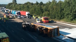 M11 re-opens after lorry crash in Essex