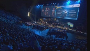 Leeds Arena has welcomed thousands of people for the opening ceremony of Le Tour de France.