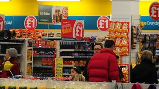 The average Poundland customer apparently spends £4.55 in store.