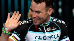Omega Pharma-Quick Step Cycling Team's Mark Cavendish during the team presentation at The Leeds Arena, Leeds.