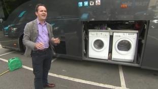 Team Sky tour bus