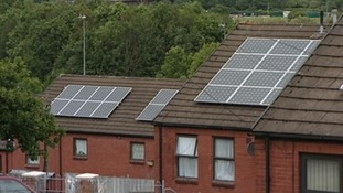 solar panels on roof of houses