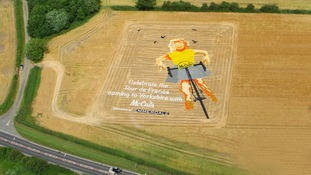 4,550 square metre image of a scarecrow in a McCain potato farmer's field at Alton Farms