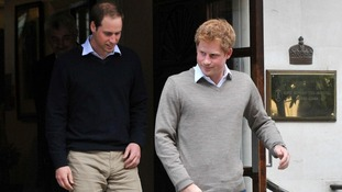 The Duke of Cambridge and Prince Harry left the King Edward VII Hospital in central London, after visiting the Duke of Edinburgh