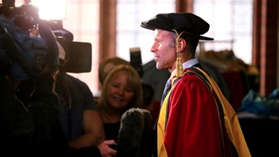 Ryan Giggs receives his Honorary Doctor of Science for Outstanding Contribution to Sport