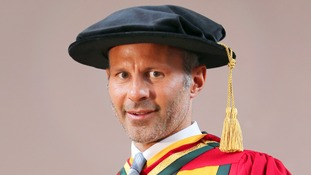 Ryan Giggs received his Honorary Doctor of Science for Outstanding Contribution to Sport