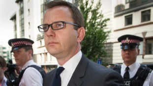 Andy Coulson pictured arriving at the Old Bailey in London this morning.