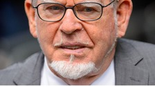 Rolf Harris pictured arriving at Southwark Crown Court.
