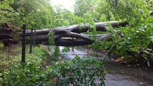 A summer storm hits Wales