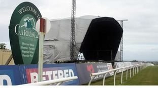 Giant stage at Carlisle Racecourse