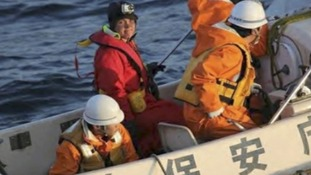 Sarah Outen heads to Japan with the coastguard
